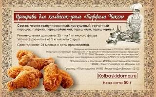 Отзыв о Колбаски для жарки «ЧИКЕН»